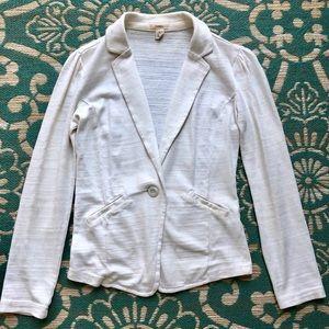 Caslon Casual Cotton Off-White Blazer